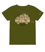 ROLLIN' BAND WAGON Tシャツ OLIVE L