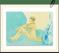 2Lサイズ水彩画ブロマイド 佐伯希星