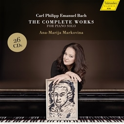 C.P.E.バッハ : 鍵盤独奏作品全集 (ピアノによる演奏) (Carl Philipp Emanuel Bach : The Complete Works for Piano Solo / Ana-Marija Markovina) (26CD Box) [輸入盤]